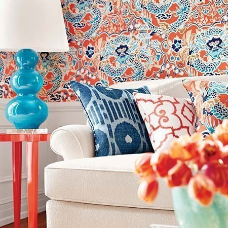 Imperial garden collection thibaut wallpapers brands for Designer wallpaper brands
