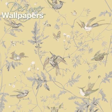 Hummingbirds Silk Fabric