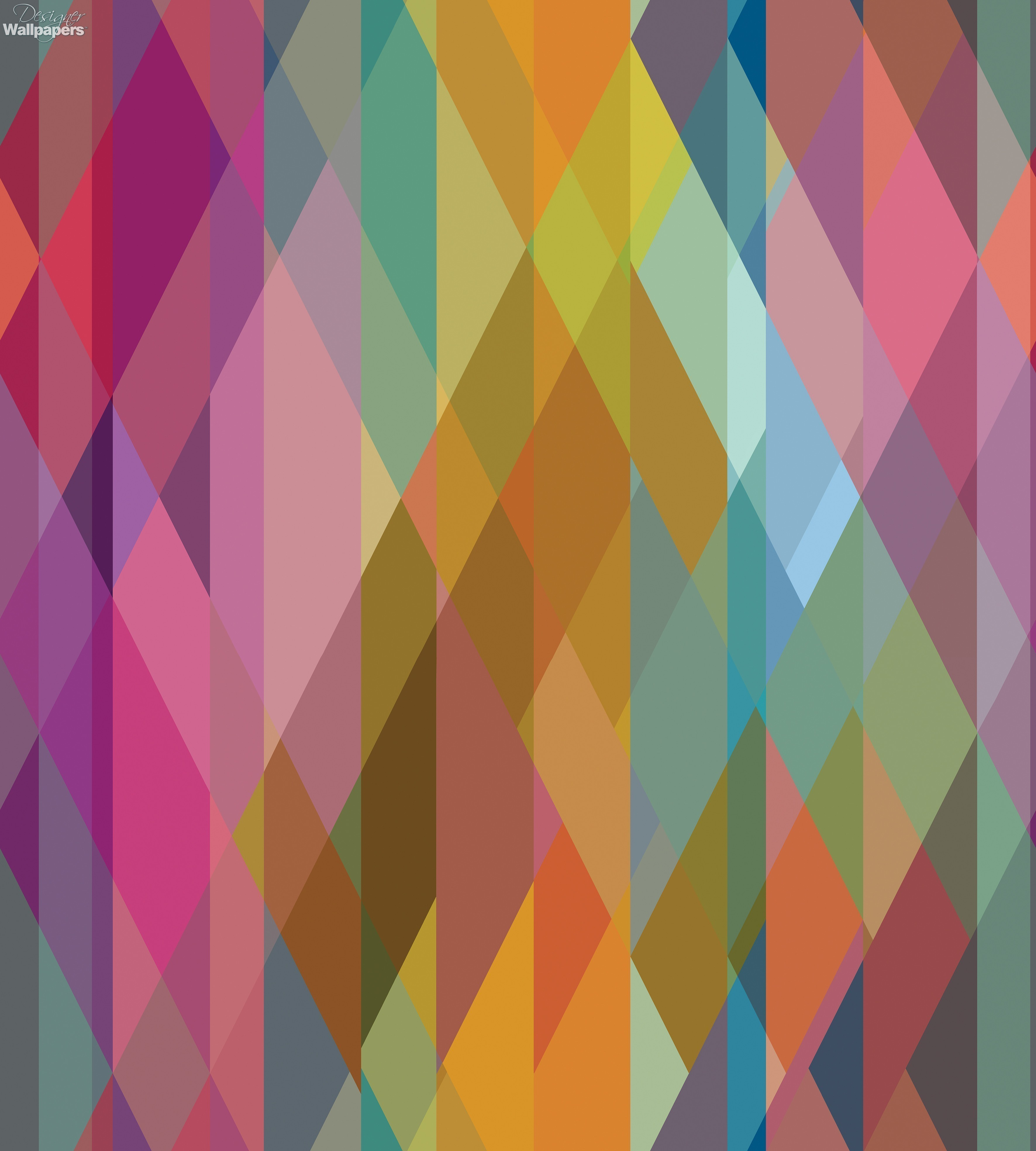 Free Colorful Geometric Wallpaper: Buy Cole And Son Prism - Free Next Day Delivery