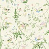 Hummingbirds Silk Fabric  - Multi colour