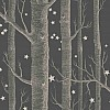 Woods & Stars - Grey Wallpaper