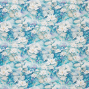 Water Lily Fabric - Blue