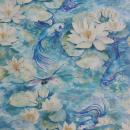 Water Lily - Aqua & Blue Wallpaper