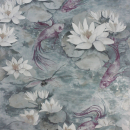 Water Lily - Grey Wallpaper