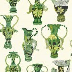 Cole and Son Khulu Vases 109/12056 Green
