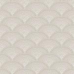 Feather Fan - Brown & Beige Wallpaper