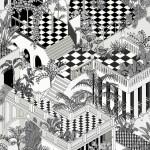Miami - Black & White Wallpaper