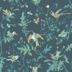 Hummingbirds - Aqua & Blue Wallpaper
