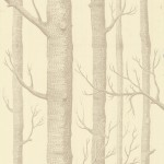 Woods - Natural, Ivory & White Wallpaper