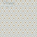 Hicks' Hexagon - Grey Wallpaper