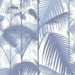Palm Jungle - Aqua & Blue Wallpaper