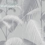 Palm Jungle - Grey Wallpaper