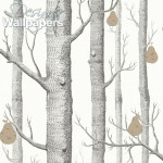 Woods and Pears - Black & White Wallpaper