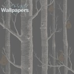 Woods and Pears - Grey Wallpaper