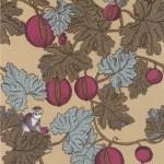 Cole and Son Frutto Proibito 77/12044 Monochrome monkeys climb over a tree of brown a...