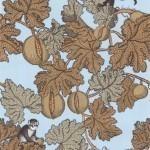 Cole and Son Frutto Proibito 77/12046 Monochrome monkeys amongst neutrally coloured l...