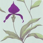 Orchid - Natural, Ivory & White Wallpaper