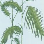 Palm Leaves - Aqua & Blue Wallpaper