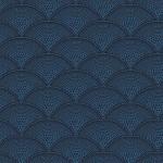 Feather Fan Fabric - Blue
