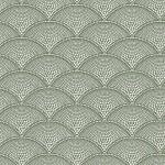 Feather Fan Fabric - Green