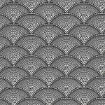 Feather Fan Fabric - Black