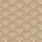 Feather Fan Fabric - Gold
