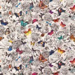 Butterfly Garden Fabric - Multi colour
