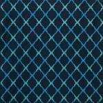 Jali Trellis Fabric - Blue