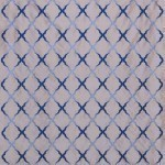 Jali Trellis Fabric - Silver
