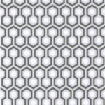 Hicks' Hexagon - Natural, Ivory & White Wallpaper