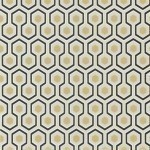 Hicks' Hexagon - Brown & Beige Wallpaper