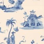 Osborne & Little Palais Chinois W6011-03 Porcelain blue and cream.