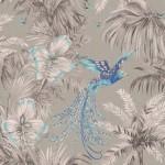 Bird of Paradise - Aqua & Blue Wallpaper