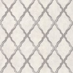 Jali Trellis - Natural, Ivory & White Wallpaper