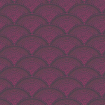 Feather Fan Fabric - Reds