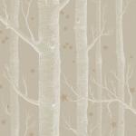 Woods & Stars - Brown & Beige Wallpaper