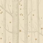 Woods & Stars - Natural, Ivory & White Wallpaper
