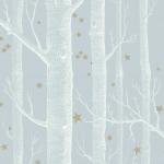 Woods & Stars - Aqua & Blue Wallpaper