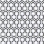 Hicks' Hexagon - Natural, Ivory & White Wallpaper