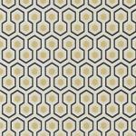 Hicks' Hexagon - Brown & Beige Wallpaper